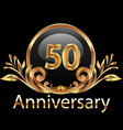 50 years anniversary birthday in gold vector image