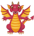 Cartoon funny dragon vector image