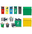 Different size of trashcan vector image vector image