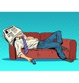 rest fatigue sleep on the couch Siesta vector image