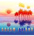 Retro colorful island paradise vector image