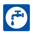 blue tap and drop icon vector image vector image