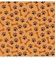 Animal seamless pattern of paw footprint vector image