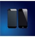 Black mobile phones vector image