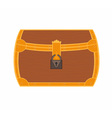 Cartoon treasure chest vector image