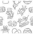 collection stock of circus object doodles vector image