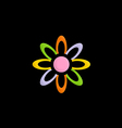 colorful flower decorative logo vector image