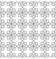 Delicate Seamless pattern with geometric flowers vector image