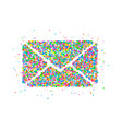 envelope circles icon vector image