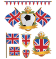Great britain flags vector image