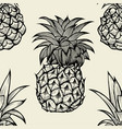 pineapples hand drawn sketch vector image