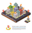 road in the city isometric cityscape location vector image