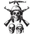 Skull army vector image