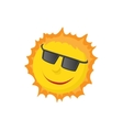 Sun face with sunglasses icon cartoon style vector image