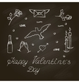 Symbols set for Valentines Day vector image
