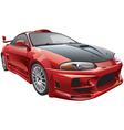 devils car vector image vector image