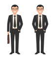 a young cartoon style smiling businessman vector image vector image