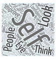 why is it important to improve yourself Word Cloud vector image