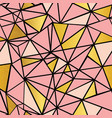 salmon pink and gold foil geometric mosaic vector image