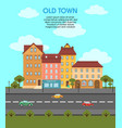 colorful flat urban landscape template vector image