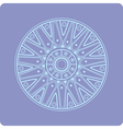 Celtic circular geometric floral ornament vector image