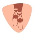 Emblem of dance studio with ballet pointe shoes vector image