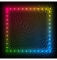 Rainbow colors glowing dots abstract frame vector image vector image