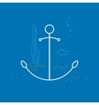 Anchor Line Style Design vector image