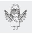 Angel decoration for Christmas season vector image
