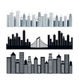 cityscape buildings background icon vector image