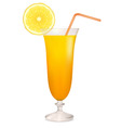 coctail orange vector image