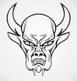 Devil Face Tattoo Design vector image