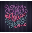 Happy New Year Greeting Card Decorative hand drawn vector image