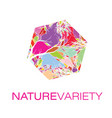 nature variety logo poster vector image