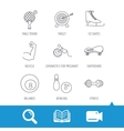 Target table tennis and fitness sport icons vector image