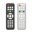 TV Remote Control in Black and White Design vector image