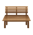 Wooden chairs on a white background Wooden Bench vector image
