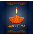 Greeting card for Diwali festival celebration in I vector image