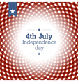 independence day card template vector image