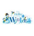 winter logo snowman winrty vector image