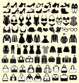 set of Fashion woman clothing and accessories vector image