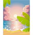 Evening beach vector image