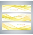 Abstract set of colorful banners with curved lines vector image