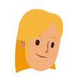 female head avatar cartoon people vector image