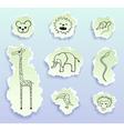 logos torn doodles vector image
