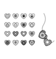 Ornamental Heart Symbols vector image