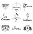 set ice cream logo for company or shop vector image
