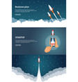startup project banner concept set business vector image