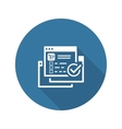 Order Processing Icon Flat Design vector image
