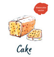 cake with raisins vector image